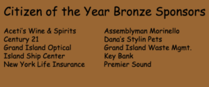 Bronze Sponsors for 52nd Citizen of the Year Awards Dinner